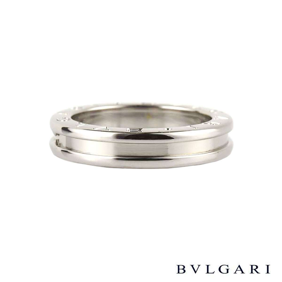 Bvlgari 18k white gold B.zero1 Ring Size 50 AN852423
